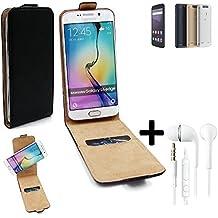 TOP SET: Caso Smartphone para ZTE Blade V8 Lite cubierta del estilo del tirón 360°, negro + Auriculares, cubierta del tirón - K-S-Trade | Funda Universal Caso Monedero cubierta del tirón Monedero Monedero
