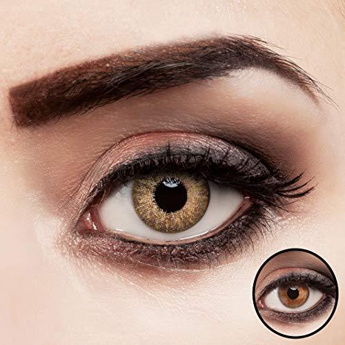 a4e55d3b97014 ... ojos y los lentes de contacto a través de su médico. aricona  Kontaktlinsen farbig braun ohne Stärke Jahreslinsen stark deckend 2 Stück