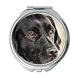 Spiegel, Schminkspiegel, Bunte Hunde Labrador Hund hd, Taschenspiegel, 1 X 2X Lupe