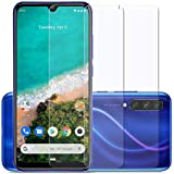 Affix Premium Tempered Glass Screen Protector for Xiaomi Mi A3 with Easy Installation Kit (Transparent) [Pack of 2]