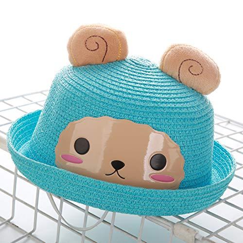 Herren Kostüm Für Kinder Brasilien - mlpnko Neue Kinder Strohhut Cartoon Tier Hut Baby Männer und Frauen Becken Kappe Hirse Schaf blau M