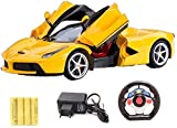 #7: Zest 4 toyz Gravity Sensing Steering Remote Control Ferrari R/C Car with Openable Doors and Rechargable Batteries. (Yellow).