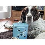 Aufbewahrungsbox für Hundeleckerlis, Aufschrift 'Dog Treats', Zinn
