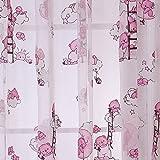 1m x 2m große Fenstervorhänge mit Blumenmuster von Seguryy Cute Bear Pattern