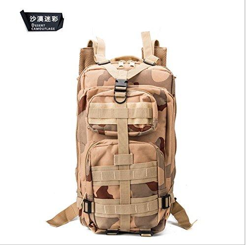 Uomini camuffamento outdoor alpinismo multifunzionale borsa doppia spalla zaino borsa 45*25*23cm,ACU camouflage Desert Camouflage