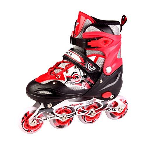 Kamachi K906 Inline Skates, Medium (Red/White)