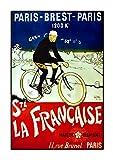 Paris-Brest-Paris, A4 Poster, Vintage, Foto, Fahrrad, Mode,