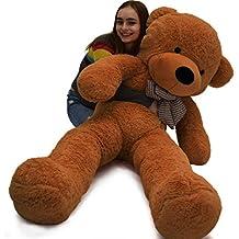 verc Art Regalo oso de peluche gigante Gentleman oso de peluche muñeca color marrón oscuro