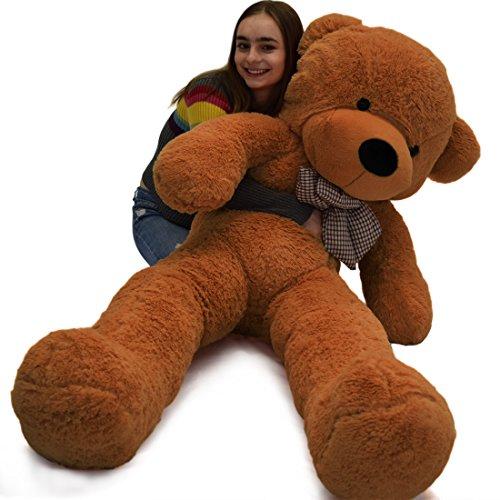 Vercart Schönes Geschenk Plüschbär Riesen Gentleman Plüsch Bär Puppe Dunkelbraun XXL 140CM - Valentines Riesen Teddy Bär
