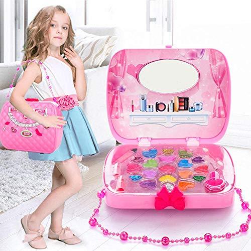 AOLVO Tragbare Make-up-Tasche und Kosmetik-Set, Make-up-Palette mit Pinsel und HD-Make-up-Spiegel...