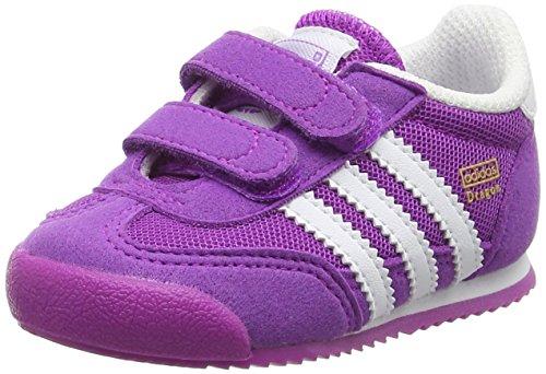 Adidas Baby Mädchen Dragon Cf I Krabbelschuhe, Violett (Shock Purple/Ftwr White/Shock Purple), 23 EU