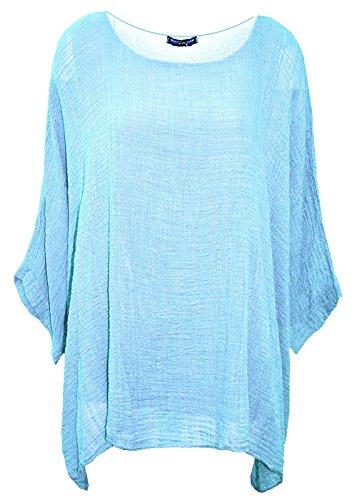 Accessorize-me. Débardeur - Femme Taille Unique bleu turquoise