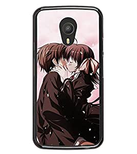 Love Couple 2D Hard Polycarbonate Designer Back Case Cover for Meizu M2 Note :: Meizu Blue Charm Note2