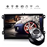"""D-NOBLE Autoradio Sistema Stereo GPS Car DVD Player 9"""" HD Touch Screen Bluetooth Android 6.0 64Bit Quadcore 2GB/32GB Auto Navigazione Sistemi Lettori Audio MP3 Car Entertainment Multimedia with AM/FM/RDS AUX WiFi Mirror Link 1080P for Volkswagen VW Golf Polo Touran PASSAT Beetle"""