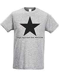 Herren-T-shirt Slim - Rage Against The Machine - Star - Black print - Maglietta 100% baumwolle ring spun LaMAGLIERIA