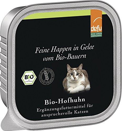 defu - feine Happen in Gelee Bio-Hofhuhn, 16er Pack (16 x 100 g) -