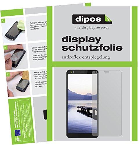 dipos I 2X Schutzfolie matt passend für Gigaset GS370 Plus Folie Bildschirmschutzfolie