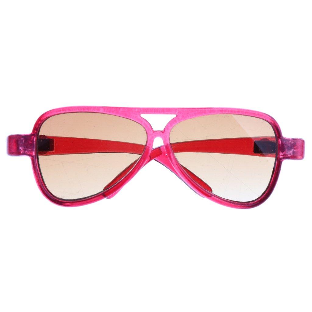 Sharplace Occhiali Specchio Montatura Ovale Moda Per 1/3 Bambola Accessori Plastica Regalo - Giallo