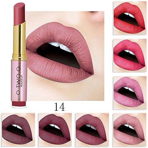 20 Colores Profesional Mate Pintalabios de Maquillaje Larga Duracion para Niñas por ESAILQ R