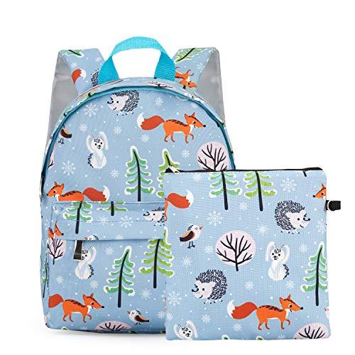 Kinder leichte Rucksack Tier Kindergarten Bookbag schöne Kind Schultasche Handtasche für Jungen mädchen Kid Bookbag Baby leinwand Daypack Cartoon geldbörse Blue -
