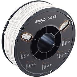 AmazonBasics – Filamento de ABS para impresora 3D, 1,75mm, Blanco, bobina de 1kg