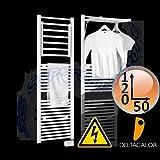Scaldasalviette DINAMIC electric bianco 120x50 cm - resistenza da 500 watt con termostato ambiente