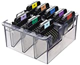Wahl-Stainless-Steel-Color-Coded-Cutting-Guides-8-With-Caddy-*-Fits-Detachable-Blades