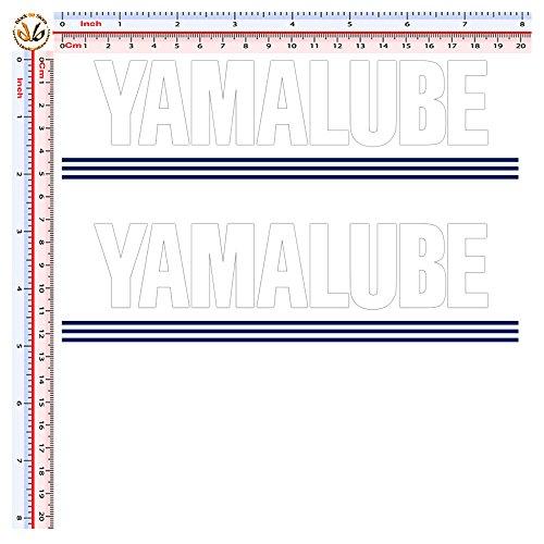Black Bit - adesivi stampati e prespaziati pvc bianco yamalube sticker sponsor helmet 2 pz.