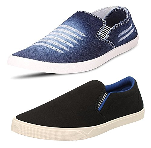 Chevit Men's Combo Pack of 2 Casual Shoes (Loafers and Moccasins Shoes)...