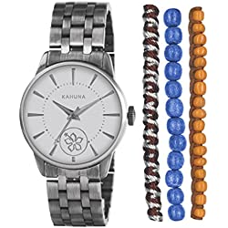 Kahuna Women's Quartz Watch with Silver Dial Analogue Display and Silver Bangle KLB-0029LSTK