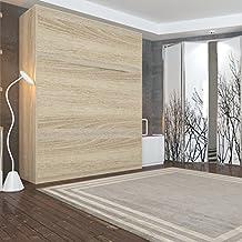 SMARTBett Cama plegable 160 x 200 cm vertical resortes de gas cama plegable & cama de pared sin colchón (Roble sonoma)