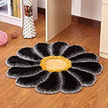 LYLLYL Alfombra Redonda de la Flor del Sol Europeo Dormitorio de la Moda Sala de Estar