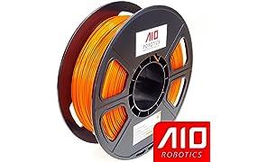 AIO Robotics Aioorange PLA imprimante 3d Filament, bobine de 0.5kg, précision Dimensionnelle +/-0,02mm, 1.75mm, Orange