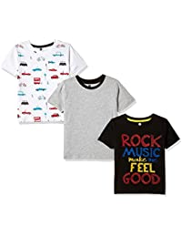 Cloth Theory Boys' Regular Fit T-Shirt (Pack of 3)
