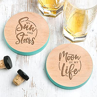 Game of Thrones Gift for him or her - Wooden Drinks Coasters - Daenerys and Khal Drogo Quotes