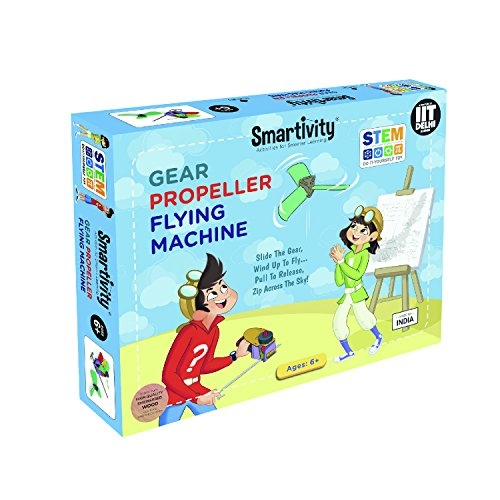 Smartivity Gear Propeller Flying Machine  Stem, DIY, Educational, Learning, Building and Construction Toy