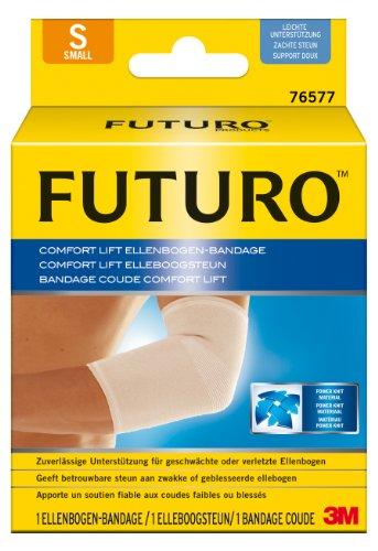 futuro bandagen FUTURO FUT76577 Comfort Ellenbogen-Bandage, beidseitig tragbar, Größe: S, Maße: 23,0 – 25,5 cm