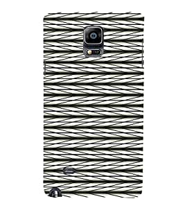 iFasho chevron style and Checks In black and white Pattern Back Case Cover for Samsung Galaxy Note 4