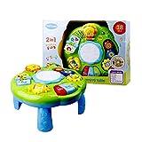 Spiel- und Lernaktivität für Babys, 6 Monate bis zur frühen BildungMusikaktivitätszentrum Spieltisch Kleinkind-Kleinkind-Kinderspielzeug mit Beleuchtung und Sound für 0-6 Jahre alte Jungen und Mädchen