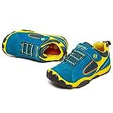 SAGUARO Jungen Trekking Wanderschuhe Kinderschuhe mit Klettverschluss Leicht Sport Schuhe Outdoor Laufschuhe Mädchen Turnschuhe Sneaker, Blau 36 - 6