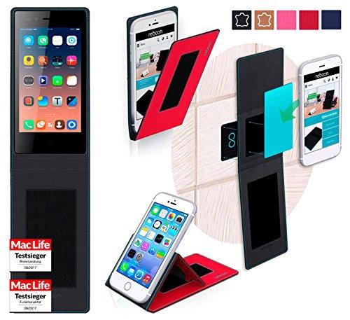 reboon Hülle für Siswoo A4 Plus Chocolate Tasche Cover Case Bumper | Rot | Testsieger