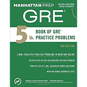 5 Lb. Book of GRE Practice Problems (Manhattan Prep 5 lb Series)(Old Edition)