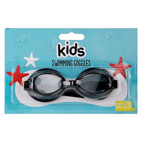 HOVUK Kinder-Schwimmbrille mit 3D-Figuren, Paw Patrol Cars Minions Frozen Jungen Mädchen, Schwarz