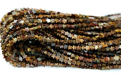 1hilos Natural marrón oro Pietersite soporte de forma de estrella pequeño sueltos de joyas perlas 4mm 03085