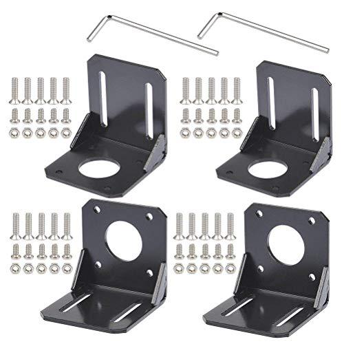 YOTINO 4PCS Nema 17 soporte de montaje de motor paso a paso con tornillos para impresora de impresora 3D Accesorios de impresora 3D