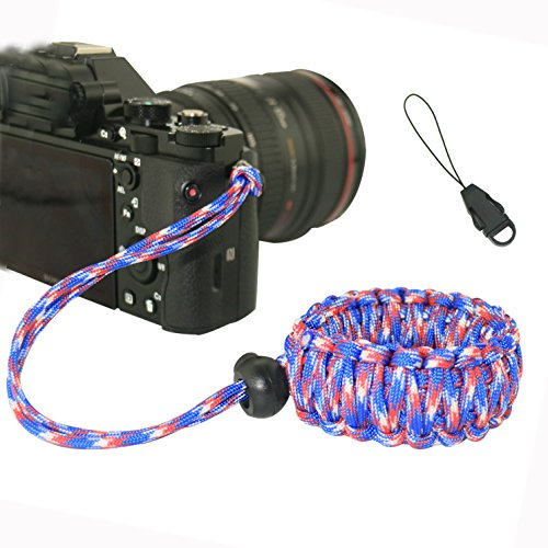 Geflochten Kamera Wrist Strap Lanyard fucnen Verstellbare Handschlaufe Kamera Armband für Spielekonsolen Video Camcorder Fernglas Nikon Canon Sony Olympus Samsung Pentax Fujifilm Panasonic DLR DSLR Digital Kamera oder anderen Hand held Geräte