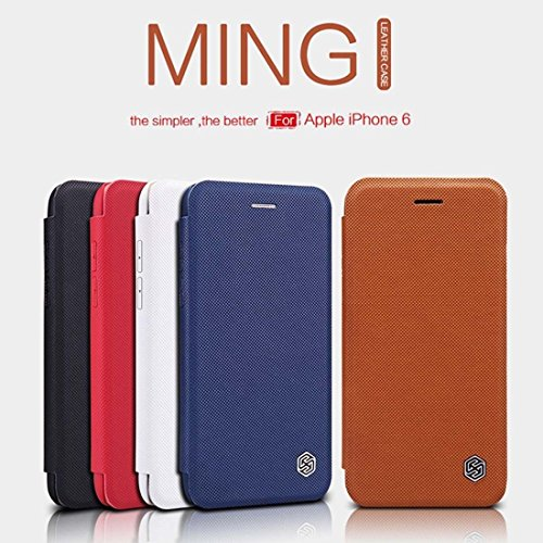 NILLKIN MING Ledertasche für iPhone 6 & 6s Gitter Textur Horizontale Flip Stand Ledertasche Cover mit Halter & Card Slot by diebelleu ( Color : Red ) Brown