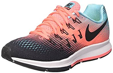 new product fd175 2e7b1 ... Nike Womens Air Zoom Pegasus 33 Black Black-Lava Glow-Polarized Blue 8.  5