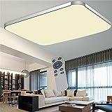 WYBAN Hohe Qualität Moderne Energiespar Panel LED Deckenleuchten perfekt für Wohnzimmer Schlafzimmer Gastzimmer Pendelleuchte Deckenbeleuchtung (Dimmbar+FB, 72W)