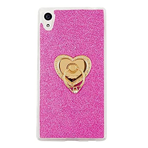MUTOUREN Sony Xperia XA Ultra/C6 Ultra/C6 case cover Flexible TPU Soft Silicone Bumper Case Cover Ultra Thin Slim Transparent bling glitter Protective case cover